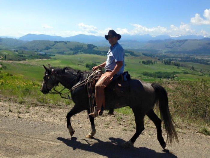 5.  … and go horseback riding all summer.
