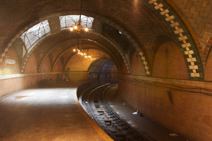 The first subway station in New York City, the platform opened in 1904 and remained open until 1945.