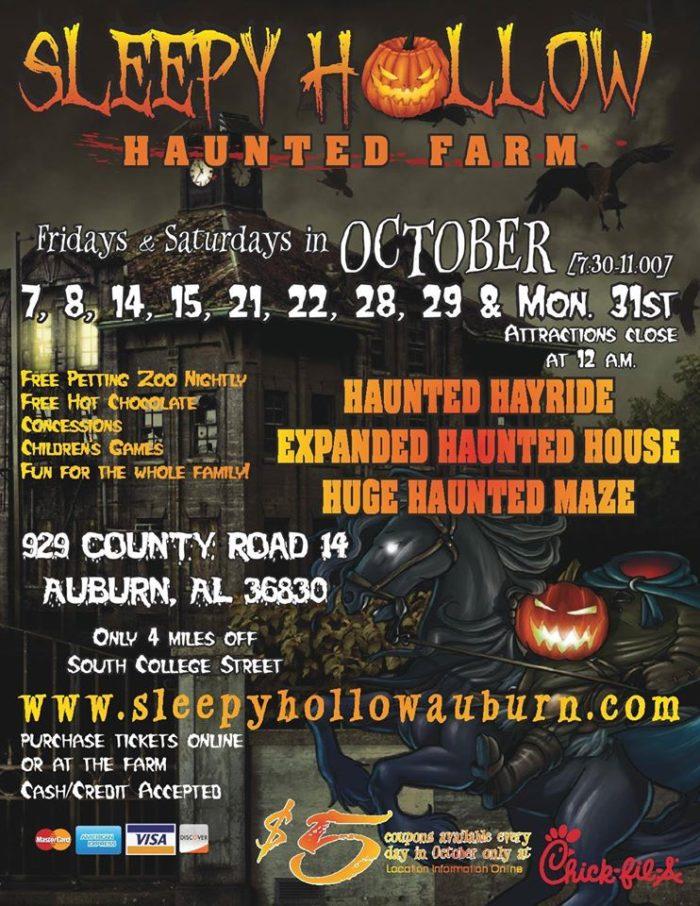 4. Sleepy Hollow Haunted Farm Corn Maze - Auburn, AL