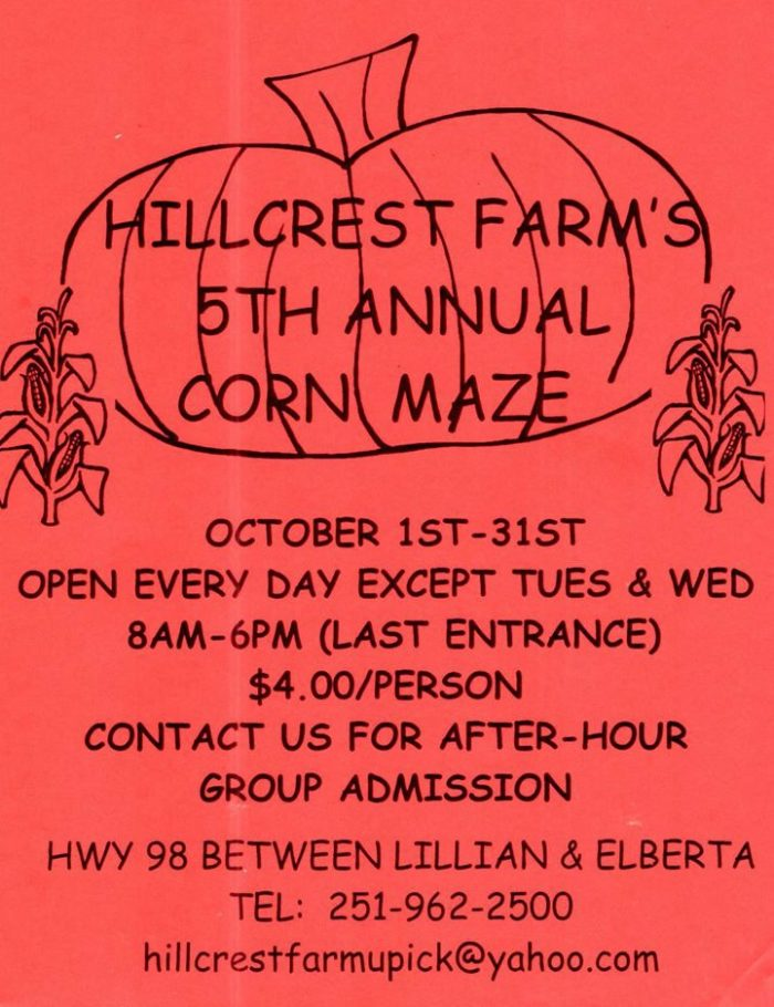 8. Hillcrest Farm Corn Maze - Elberta, AL