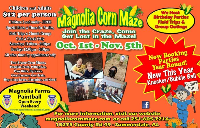 1. Magnolia Corn Maze - Summerdale, AL