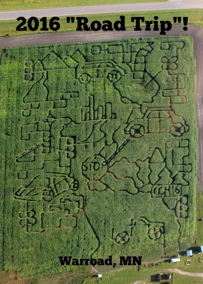 3. Country Corn Maze, Warroad