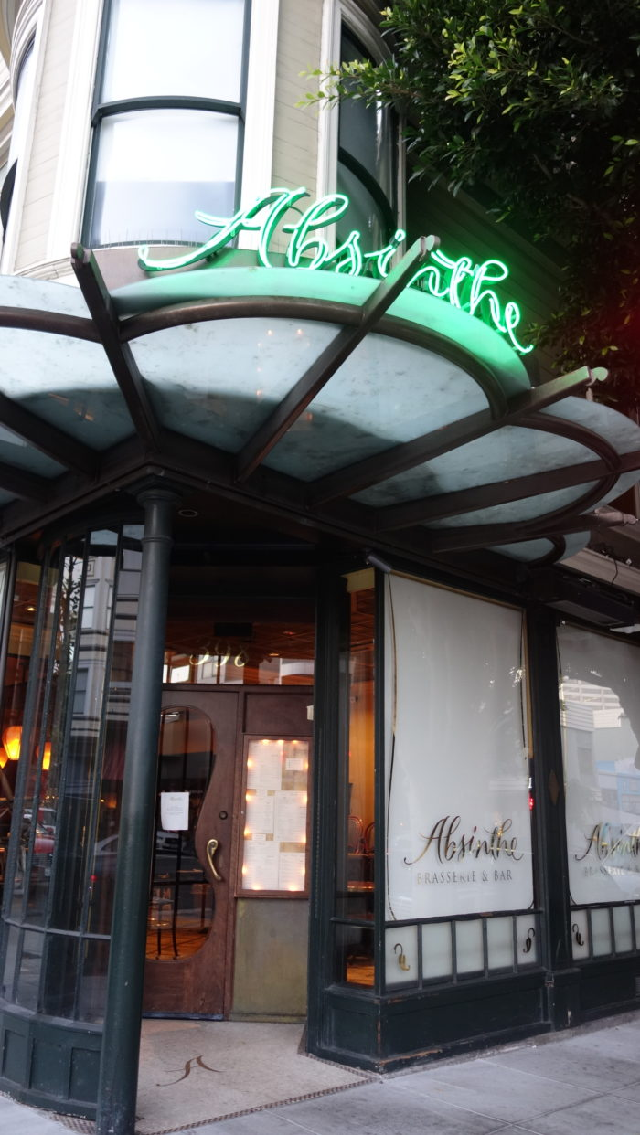 3. Go out for a fancy meal at Absinthe or Zuni.