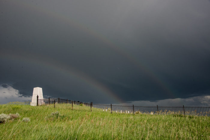 Double rainbow at the 7th Cavalry Monument-9190081914