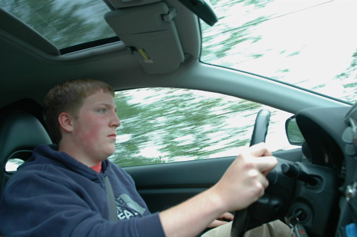 1. Driving lessons took place on early Saturday mornings to avoid traffic.