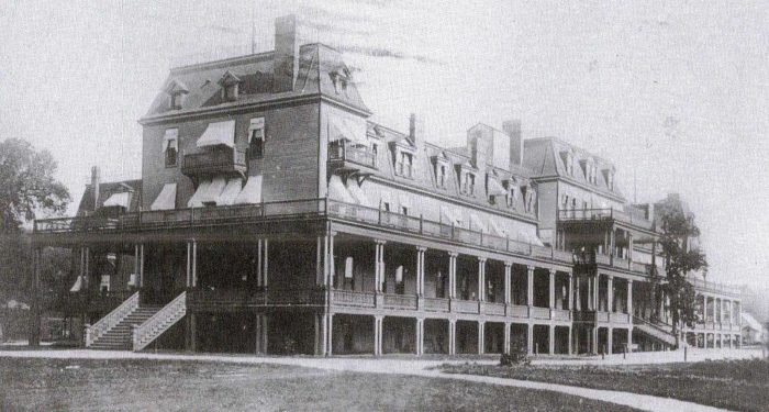 Unfortunately, the hotel burned down in 1898. Luckily there were no fatalities or injuries, but the hotel was completely destroyed.