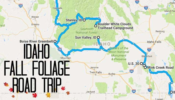 The Best Road Trip Through Idaho To See Fall Foliage