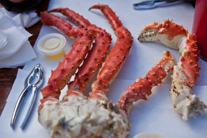 8. When you actually have to choose between locally caught wild salmon, king crab, fresh prawns, scallops or fresh halibut.