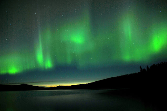 6. Crisp, clear evenings mean that the Northern Lights will be returning to dance the night away.
