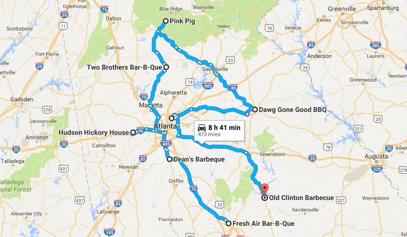 The Most Delicious Bbq Trail In Georgia