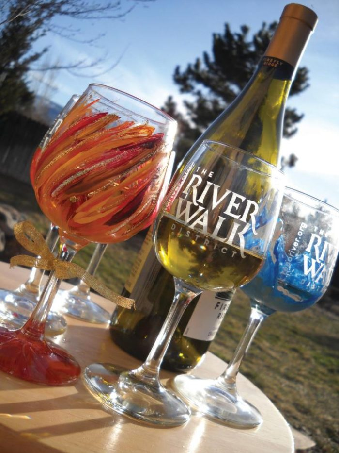 Your wine trail begins with a colorful wine glass.
