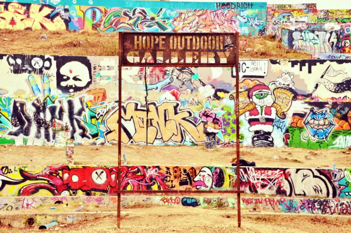 8. Your stunning work of art will inevitably get painted over at The HOPE Outdoor Gallery.