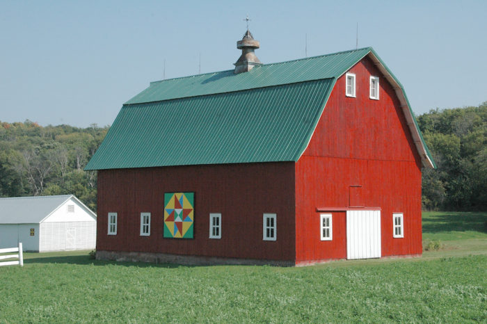 There are now 59 quilts across Caledonia and other cities in Houston County. Barn owners paint large squares with bright colors to look like a quilt.