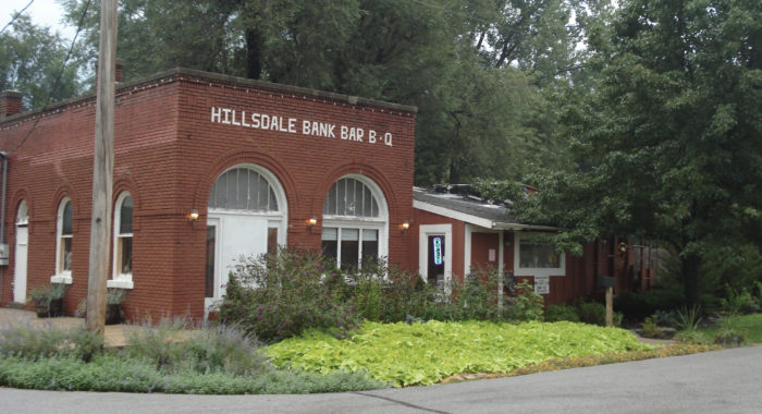 Originally opened in 1906, the Hillsdale Bank was a Kansas City-suburb bank that was well known for its brick exterior and friendly service.