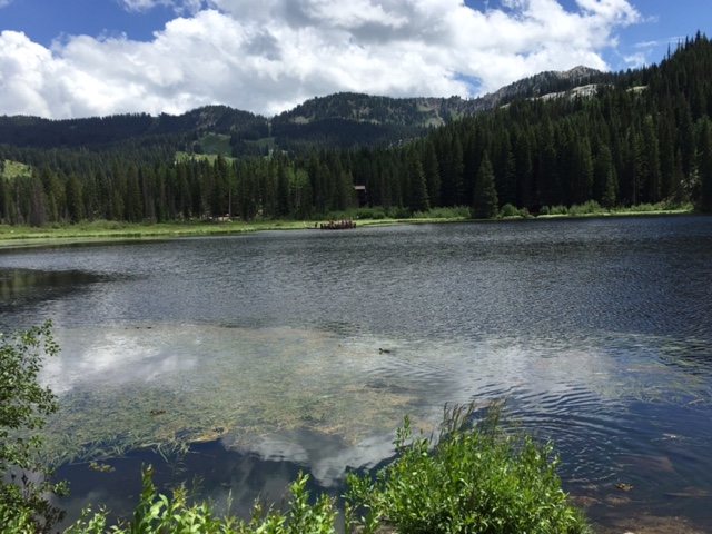 Silver Lake is a beautiful alpine lake in Big Cottonwood Canyon.