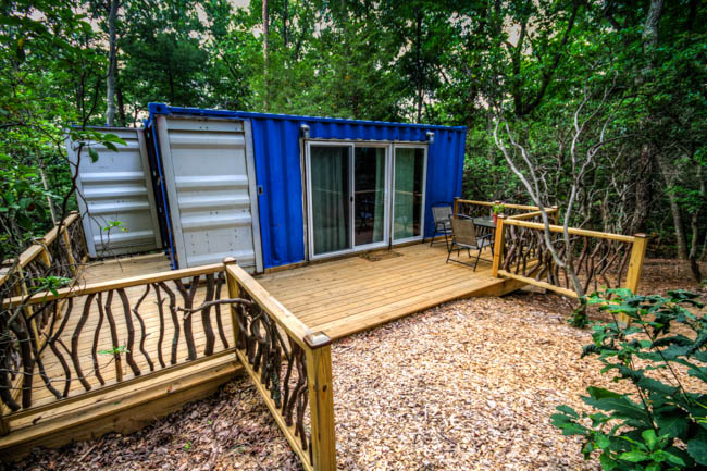7. Sleep in a Shipping Container at the Hiker Hostel