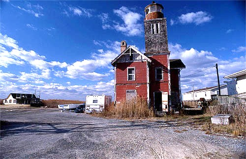 The next Mispillion lighthouse was built in 1873 - and the keeper's dwelling was remodeled the next year.