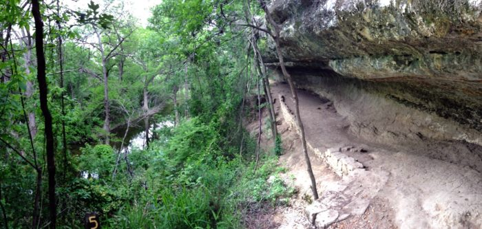 Follow the picnic trail to see the epic limestone rock shelter.