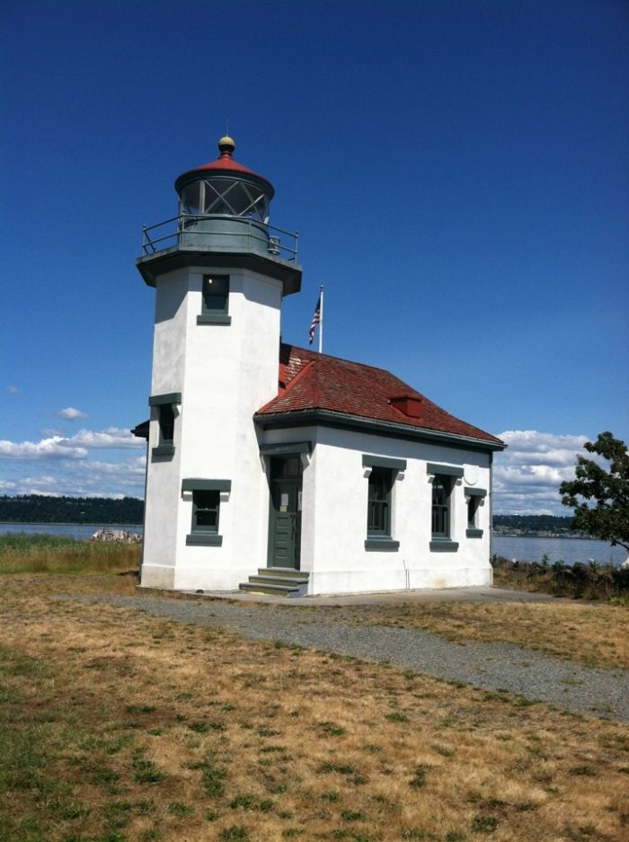 Don't miss taking a look at the Point Robinson Lighthouse, an iconic part of Vashon's shoreline that rests in a field of tall grass at Point Robinson Park.