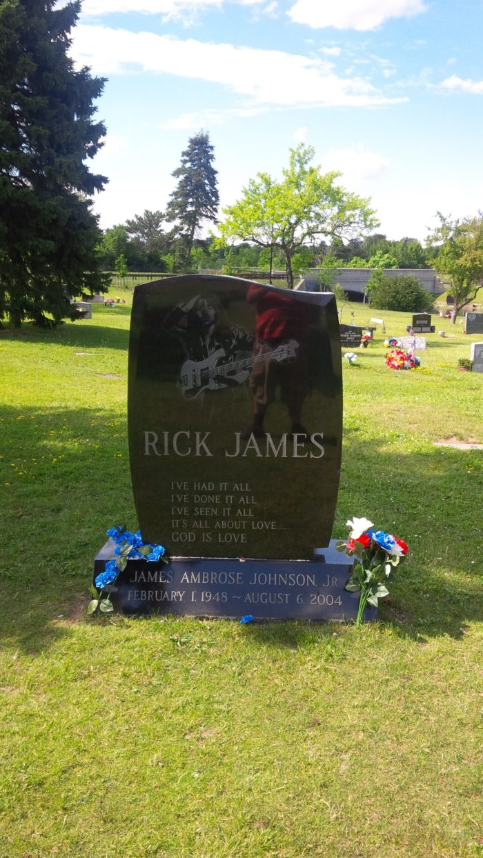 3. Rick James - Forest Lawn Cemetery, Buffalo