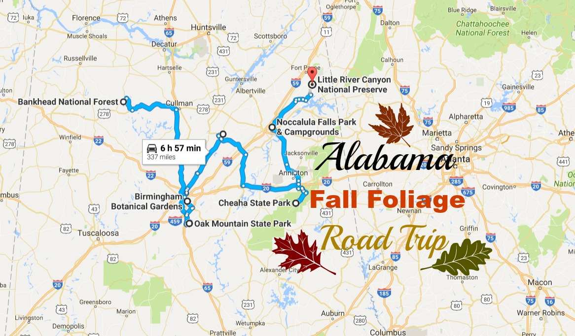 2016 Alabama Fall Foliage Road Trip