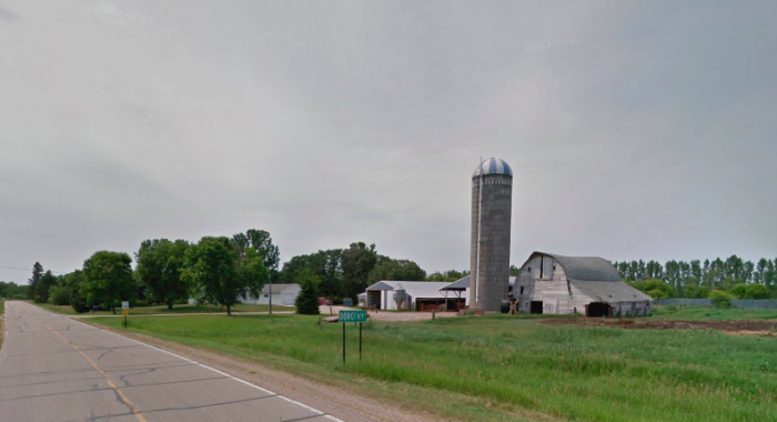 They had a grain elevator, Catholic school, and several houses, but its growth didn't last long.