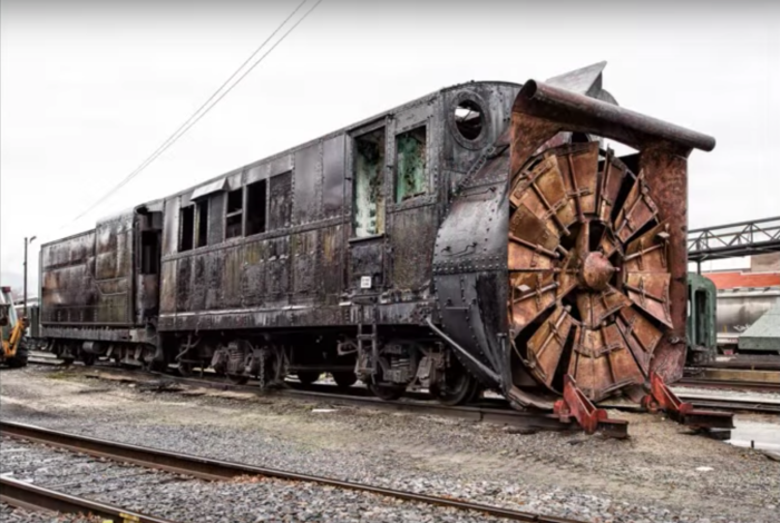 These trains are technically not totally abandoned, as they are owned by the United States government, but they have been rusting and rotting away for years.