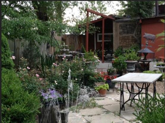 ...and serene garden area.