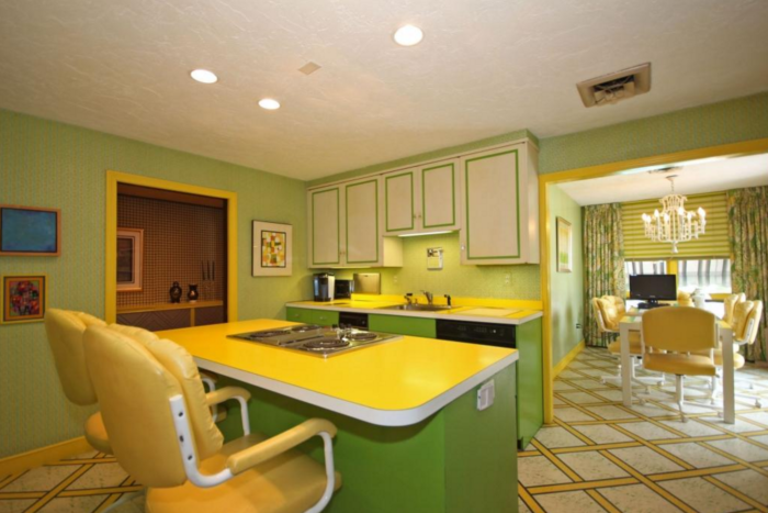 Moving on to the kitchen, you can think of the citrus-chic paint scheme as a bit of a palate cleanser.