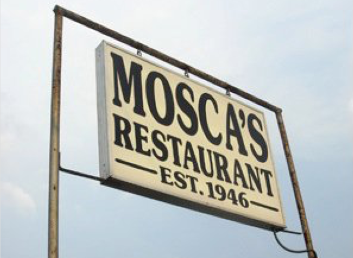Mosca's has been open since 1946, and it is one of those rare places that remains untouched by time.