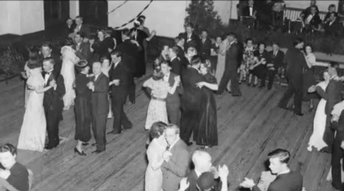 """At the town of Enfield's final community ball, the last song played was """"Auld Lang Syne"""". When the song ended, the town was officially dissolved and its land absorbed into Belchertown."""