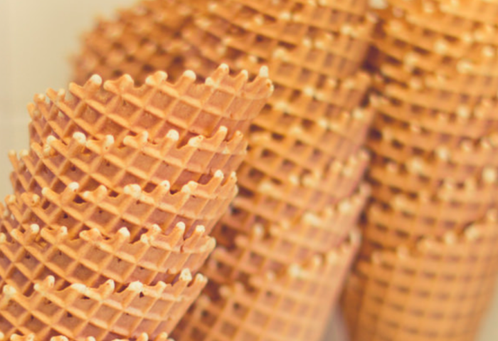 5. Waffle cones were created at the St. Louis World's Fair by accident.