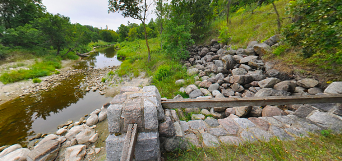 There are also stone remnants of a WPA dam that collapsed after all the years left without being maintained.