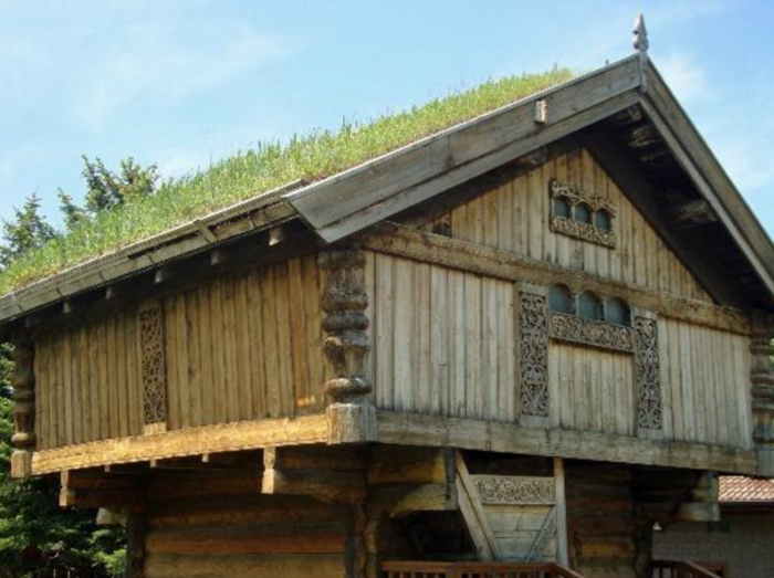 7. This unique grass-roof house at the Scandinavian Heritage Park in Minot. I wonder how they mow it?