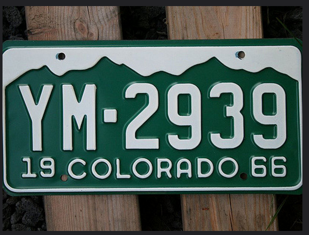 9. Wyomingites freak out when they see a green license plate.