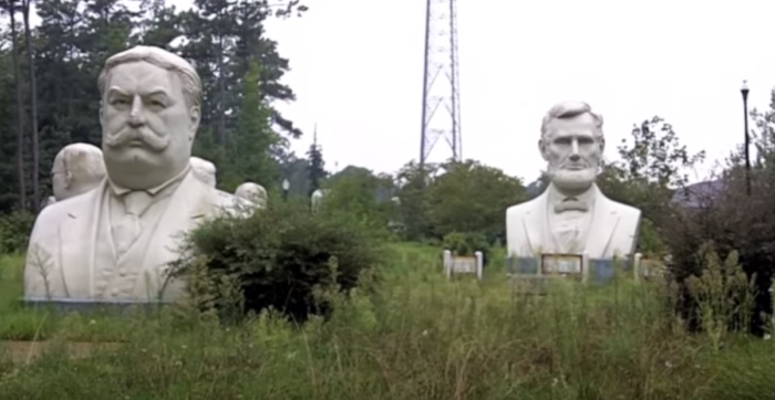 9. There's a field of abandoned President statues in Williamsburg.