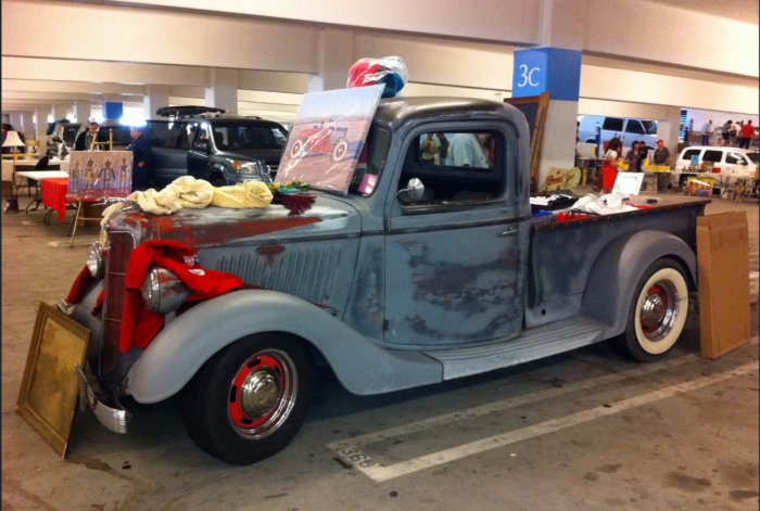 And truly, you never know what you're going to find. Each month there is something new and surprising showing up for sale, such as this old truck. Now that's a true vintage treasure!