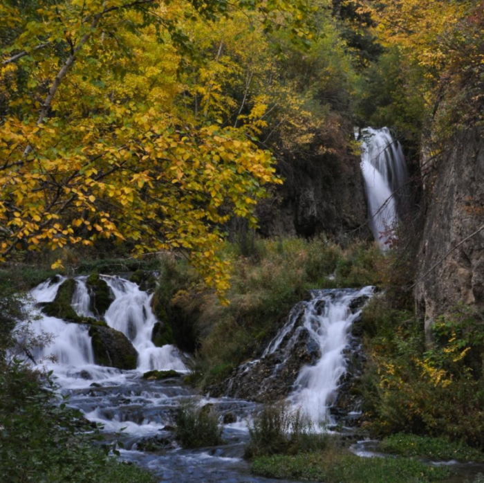 The Roughlock Falls is especially impressive in the fall when the area explodes with color.