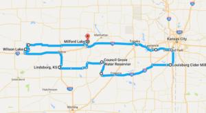 Take This Gorgeous Fall Foliage Road Trip To See Kansas Like Never Before
