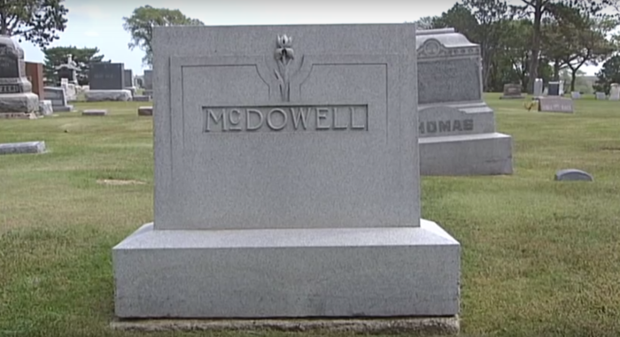 Sadly, McDowell's masterpiece was never used for its intended purpose. When he died on September 27, 1937 in a car vs. train accident, the law prevented his entombment in the mausoleum. His body instead rests in the Fairbury Cemetery.