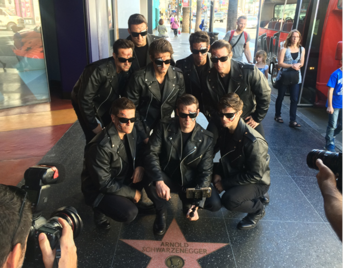 8. Taking a picture in front of the Hollywood Walk of Fame? Yep, we know you're a tourist!