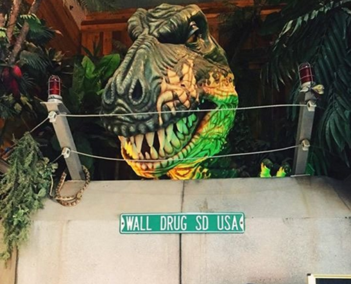 Along with the 80-foot dinosaur sculpture to draw you in, there is a T-Rex inside that will thrill younger visitors.