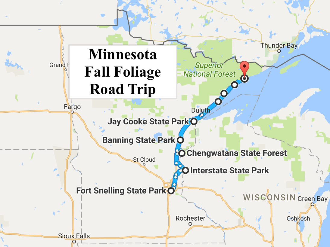 see minnesota u0026 39 s fall foliage on this colorful 2016 road trip