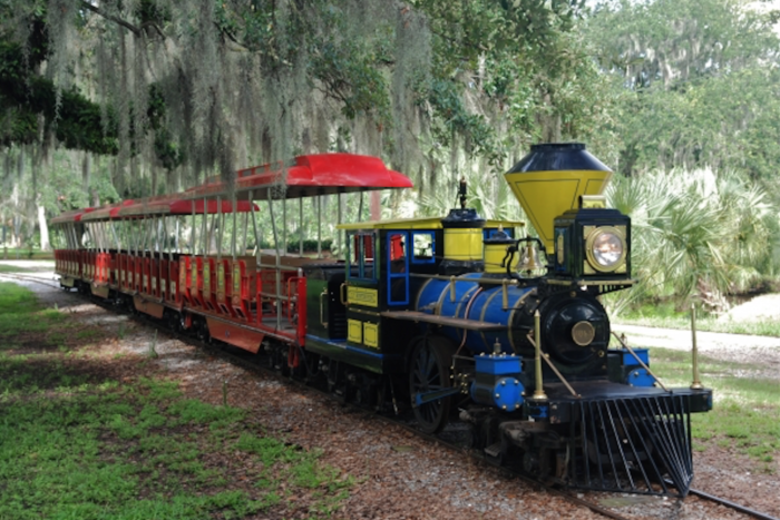 Anytime the Carousel Amusement Rides are open, you can take a ride on the train.