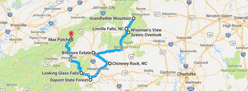 Fall Foliage Road Trip Through North Carolina Mountains on