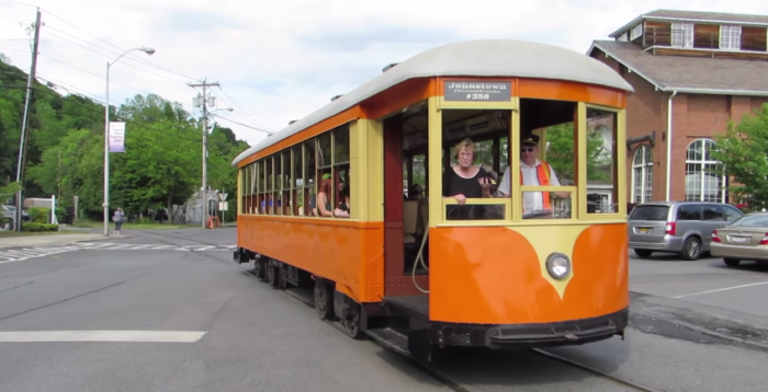 The museum features a historic trolley ride that runs for nearly 2-miles down the road.