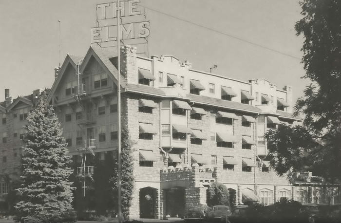 The Elms hotel first opened its doors in 1888. Guests came from all over the state to soak in the mineral water baths and enjoy the hotel's lush garden.