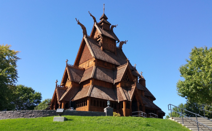 The main attraction is the Stave Church, beautifully designed after a similar church in Norway that is hundreds of years old.