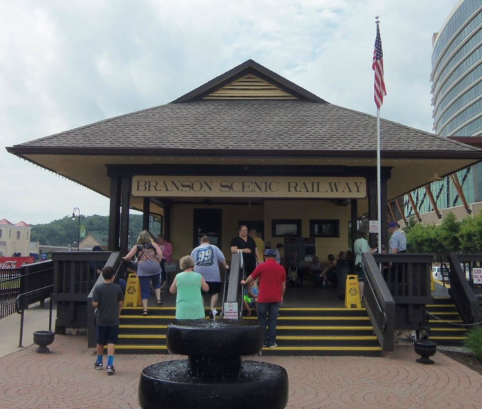 Your journey begins at the Branson depot. It's here that you can purchase  your train tickets.