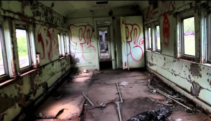The trains belonged to a man who collected trains, intended to fix them, but later abandoned all 78. It's not just trains, but subway cars and busses as well.